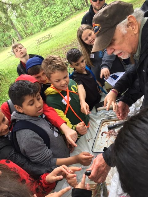 A huge thanks to our volunteer Mike Brinkley for helping to share fish biology with students!