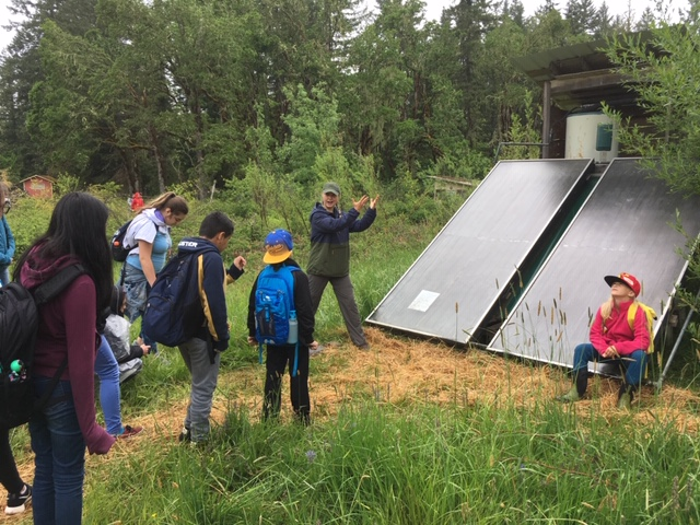 This year students learned about permaculture and solar power thanks to the help of Lost Valley Education Center.