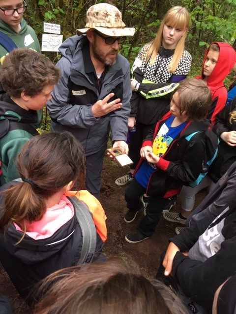 Instructors from the McKenzie Watershed Council helped share riparian ecology with the students.