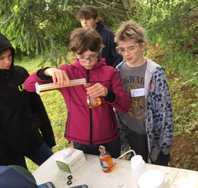 Students test water quality at Sky Camp