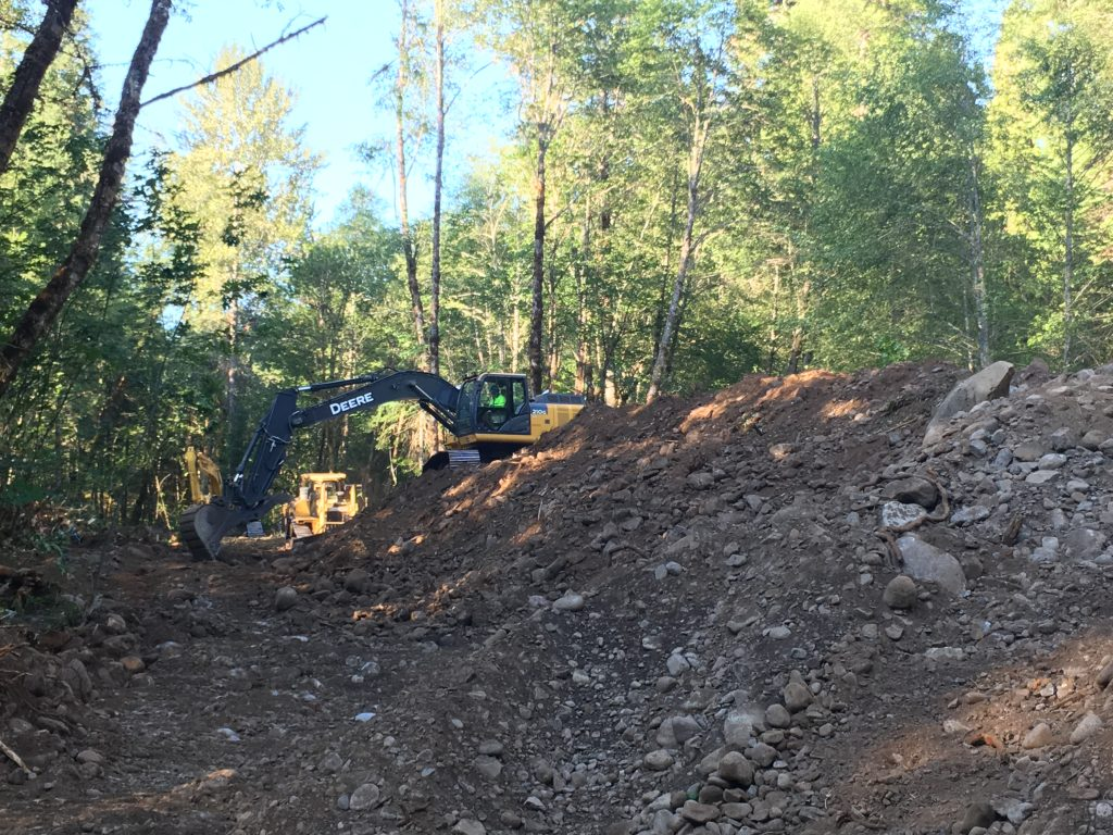 8,000 cubic yards of material had to be moved in order to smooth out elevations across the floodplain and allow water to flow everywhere.